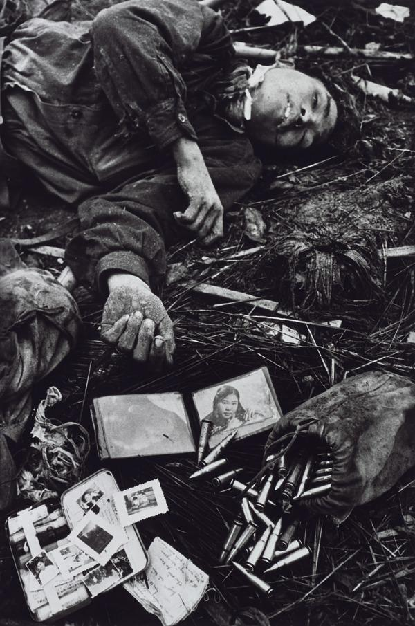A Young Dead North Vietnamese Soldier with His Possessions (1968 (printed 2013))