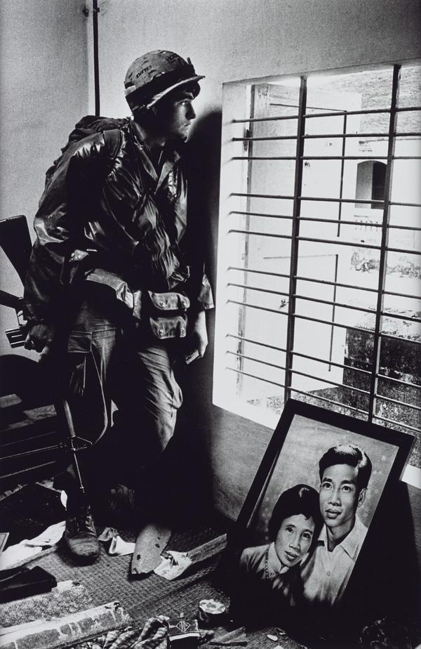 The Battle for the City of Hue, South Vietnam, US Marine Inside Civilian House (1968 (printed 2013))