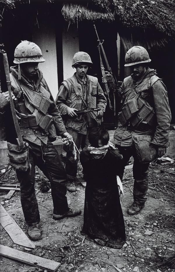 US Marines Tormenting an Old Vietnamese Civilian, The Battle for the City of Hue (1968 (printed 2013))