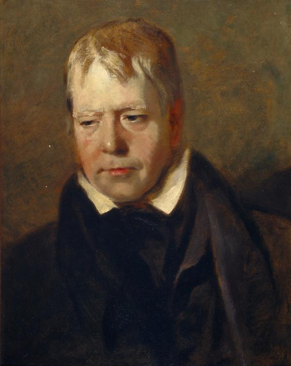Sir Walter Scott, 1771 - 1832. Novelist and poet (Probably a study for the Discovery of the Regalia) (1818)