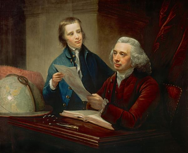 James Russell, d. 1773. Professor of Natural Philosophy at Edinburgh) University (With his son James Russell, 1754 - 1836. President of the Royal... (1769)