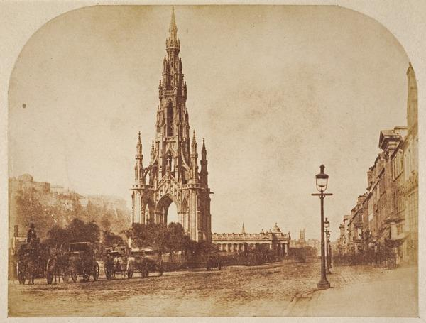 The Scott Monument (About 1845)