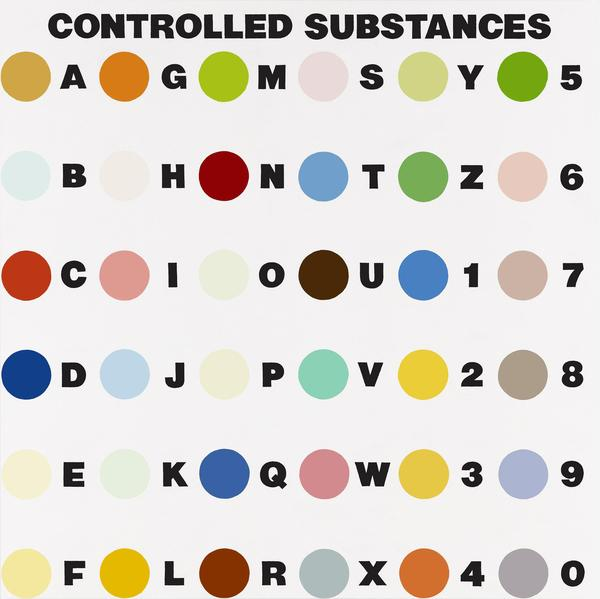 Controlled Substances Key Painting (Spot 4a) (1994)