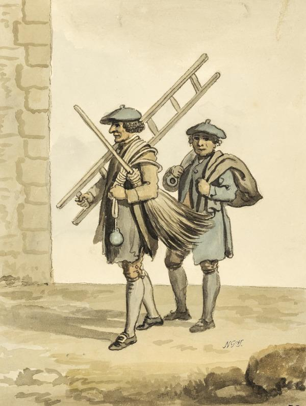 Two Edinburgh Chimney Sweeps (About 1785)