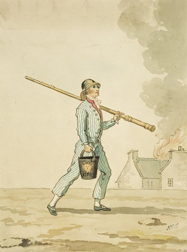 An Edinburgh Fireman (See also D 401) (About 1785)