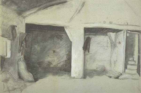 Interior of a Spanish Stable