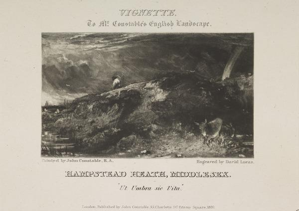 Vignette to Mr Constable's English Landscape: Hampstead Heath, Middlesex (1831)