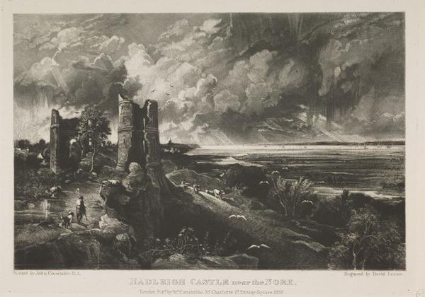 Hadleigh Castke near the Nore (1832)