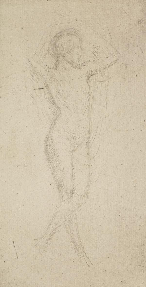 Nude Girl with Arms Raised (About 1873)
