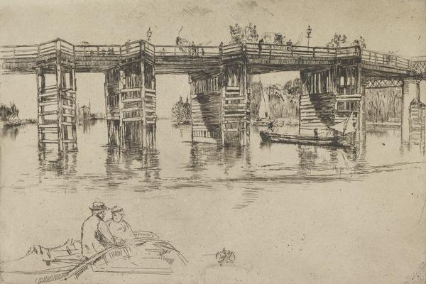 Old Putney Bridge (About 1876)