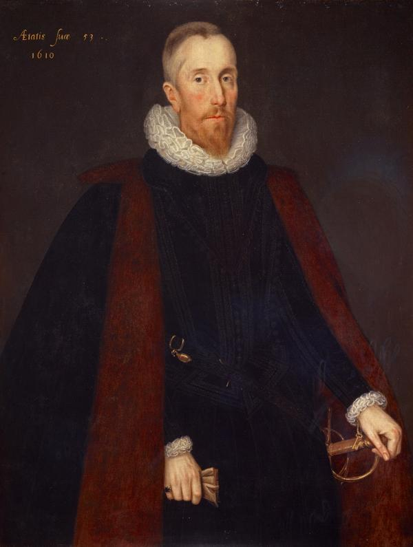 Alexander Seton, 1st Earl of Dunfermline, 1555 - 1622. Lord Chancellor of Scotland (Dated 1610)
