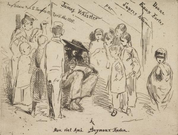 Title to 'The French Set' (Delannoy Sketching) (1858)