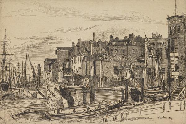 Wapping Wharf (Thames Police) (1859)