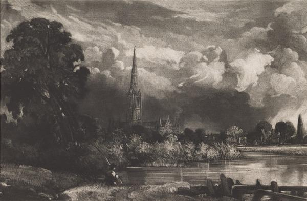 Salisbury Cathedral from the Meadows (1830)
