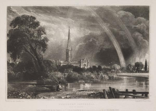 Salisbury Cathedral from the Meadows (1838)