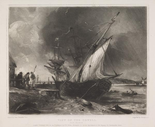 View on the Orwell near Ipswich (1838)