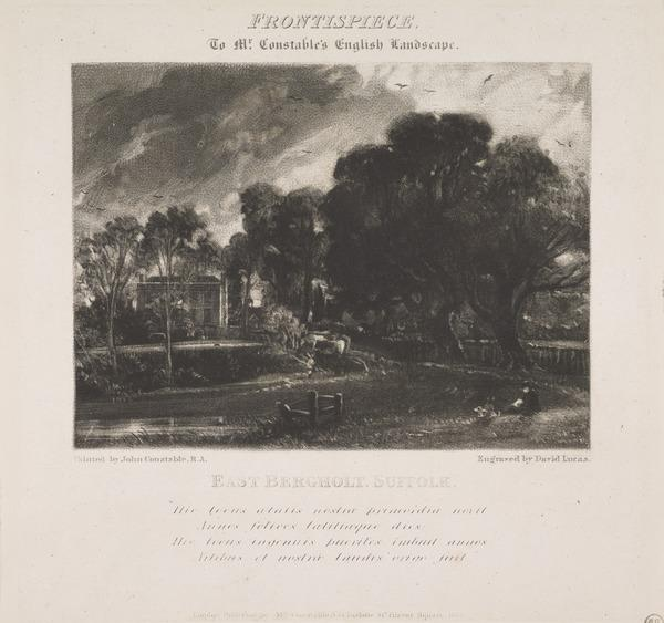 Frontispiece to Mr Constable's English Landscape (1831)