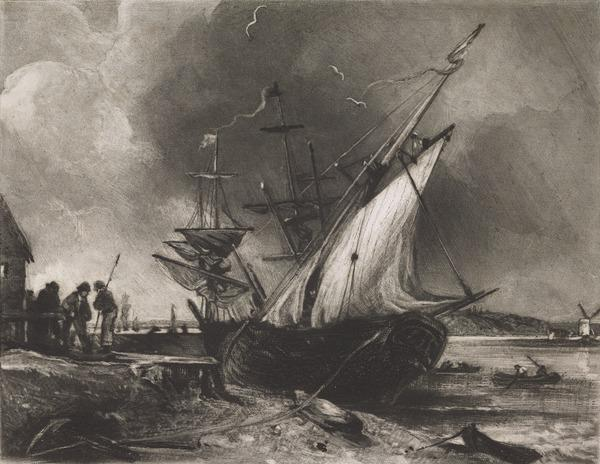 View on the River Orwell near Ipswich (1830 - 1831)