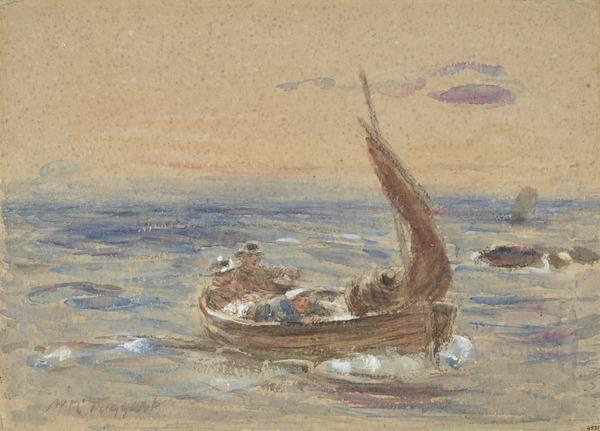 Study for the Painting 'Dawn at Sea. Homewards' (About 1891)