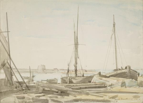 Boatbuilding Yard, Brightlingsea (Dated 1923)
