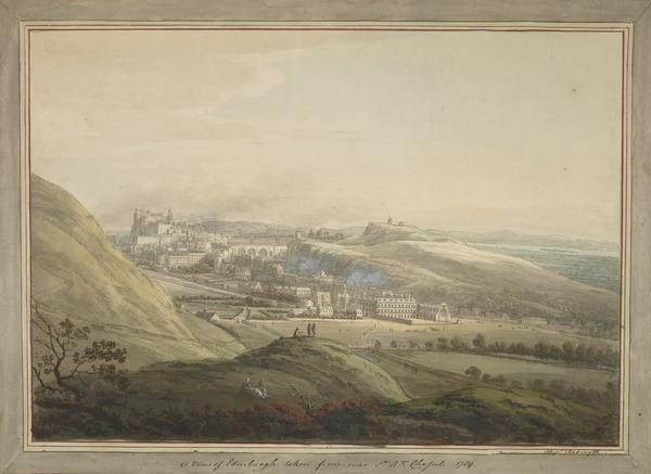 Edinburgh from St Anthony's Chapel (Dated 1789)