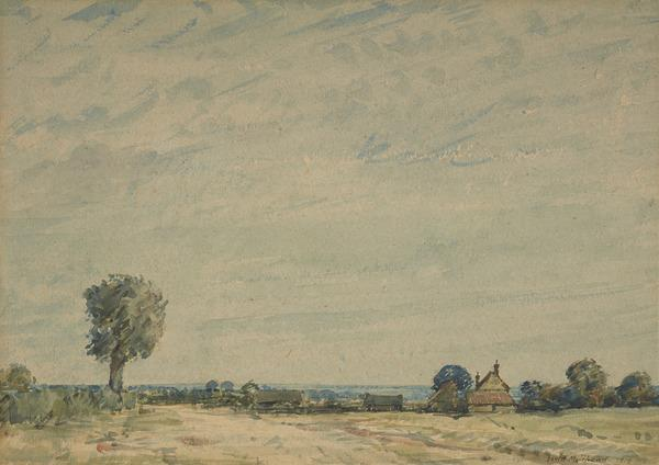 Landscape, Cambridgeshire (Dated 1919)