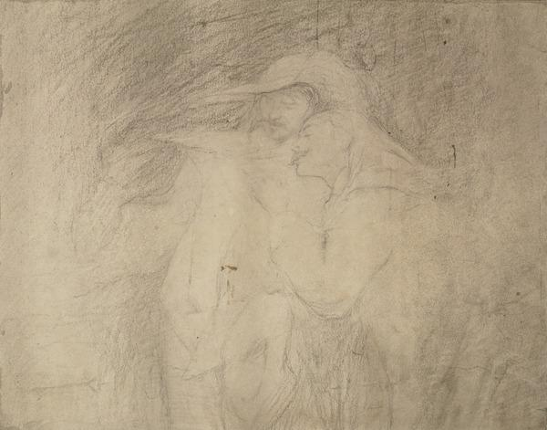 Two Cavaliers. Study for the Painting 'Casus Belli; a Scene from Peveril of the Peak' (About 1872)