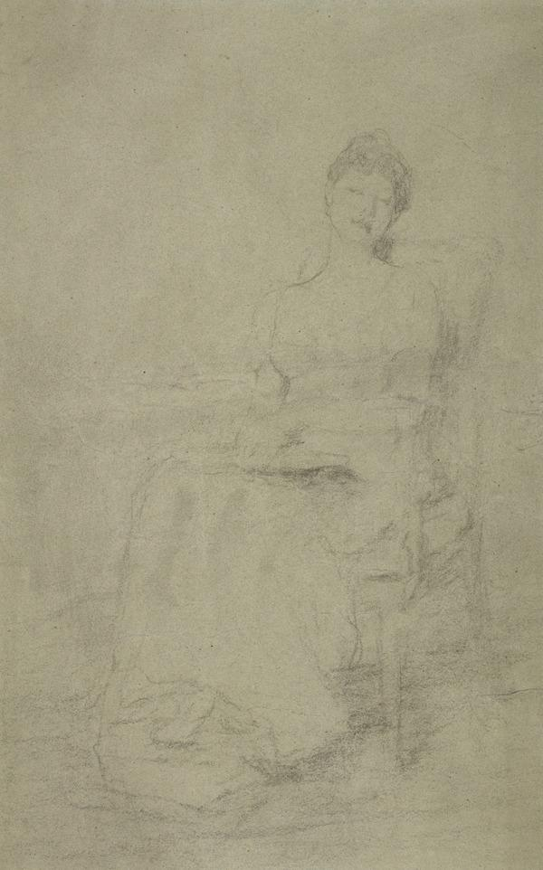 A Lady Seated in a Chair. Study for the Painting 'The First Dance' (About 1884)