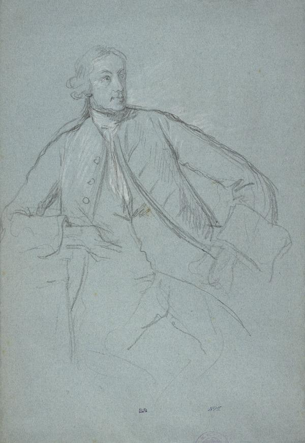 Study for the Portrait of Horace Walpole (later 4th Earl of Orford, 1717 - 1797) (About 1759)