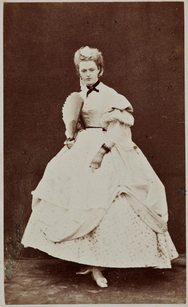 Miss H. Moncrieffe as Miss Winterblossom, in 'Popping the Question' (1 September 1863)