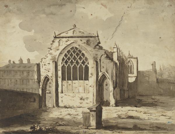 Holyrood Abbey, Edinburgh (Dated 1778)
