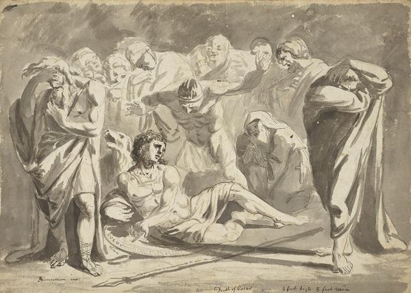 The Death of Oscar [Verso: Sketch by John Runciman]
