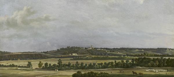The Heights of Sannois Seen from the Plain of Argenteuil (About 1798)