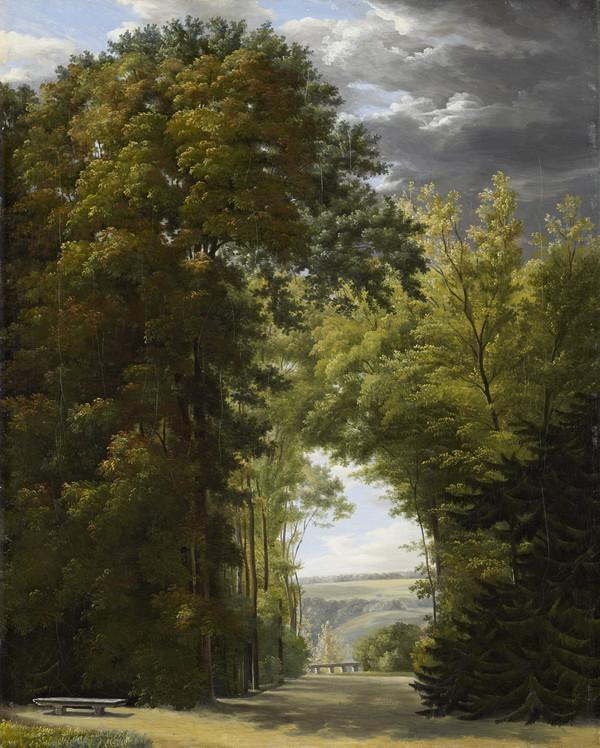 An Alley of Trees in a Park (About 1810)