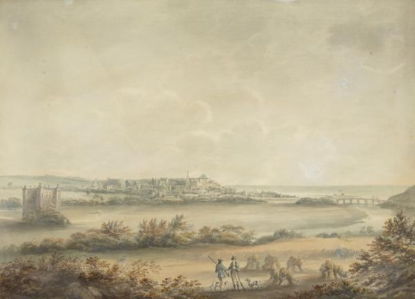 Huntsmen near Duff House with a Distant View of the Town of Banff on the Moray Firth