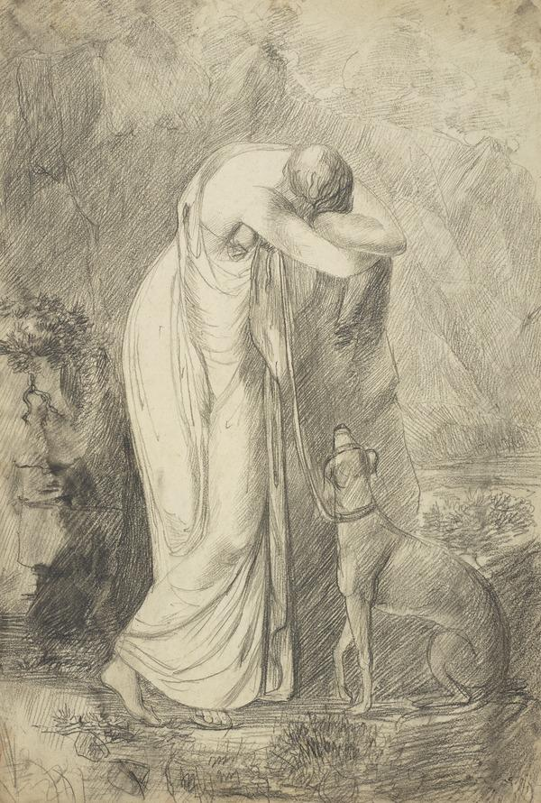 Standing Female Figure with a Hound (1700 - 1799)