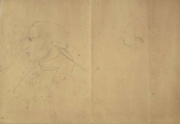 One of two Sheets of Studies of a Man's Head in Profile (1700 - 1799)