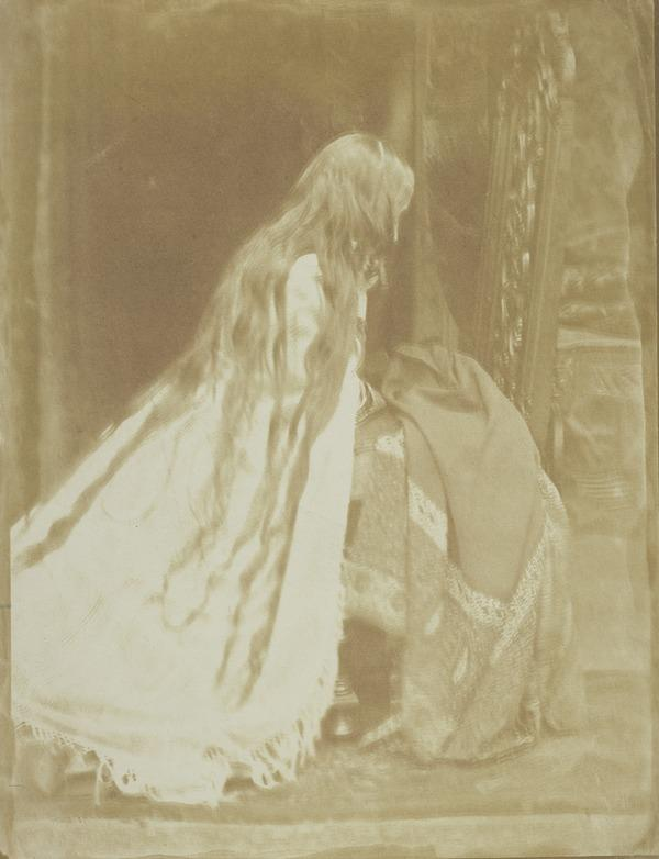 'Prayer' young girl praying - has been called 'Charlotte Hill' [b] (1843 - 1847)