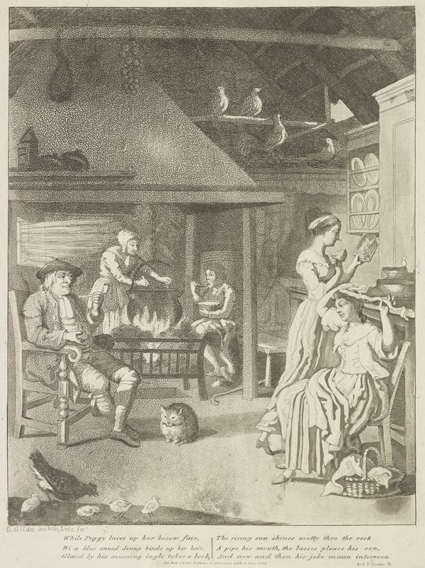 Illustration to Allan Ramsay's 'The Gentle Shepherd': Glaud's Rustic Home (Published 1808)