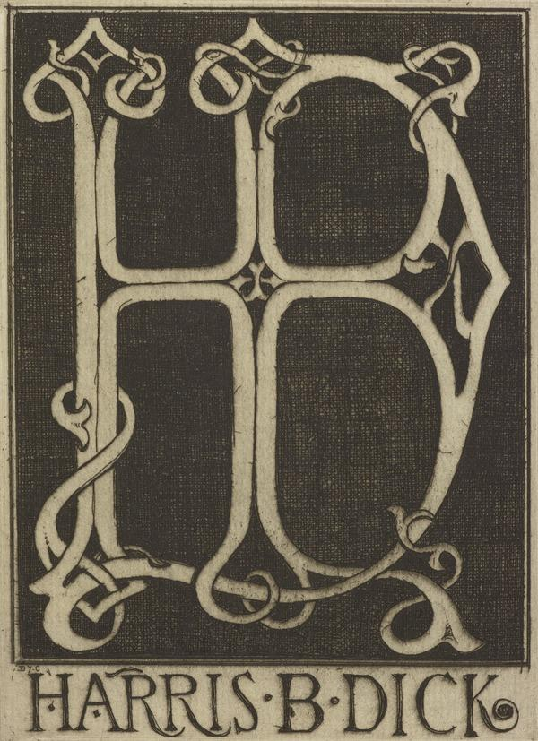 Harris B. Dick (Bookplate) (1912)
