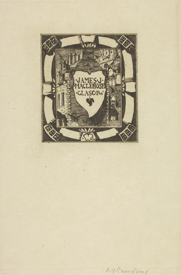 James J. MacLehose (Bookplate) (1892)