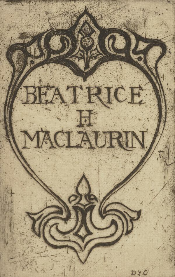 Beatrice H. Maclaurin (Bookplate) (1900)