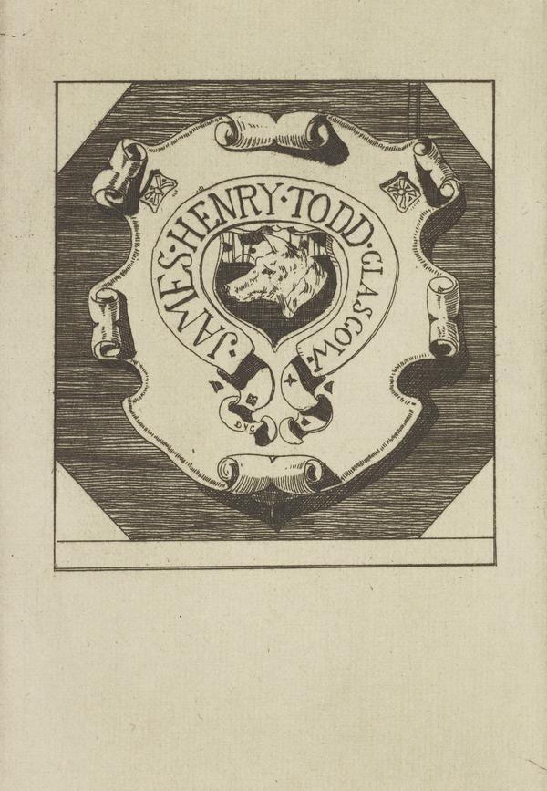 James Henry Todd (Bookplate) (1893)