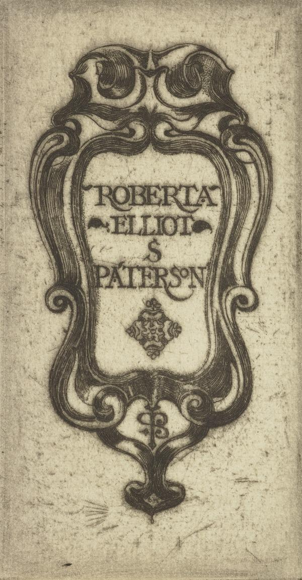 Roberta Elliot S. Paterson (Bookplate) (1899)