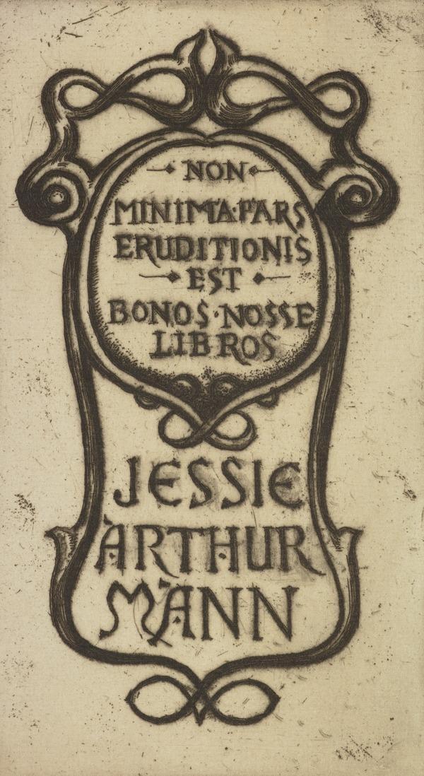 Jessie Arthur Mann (Bookplate)