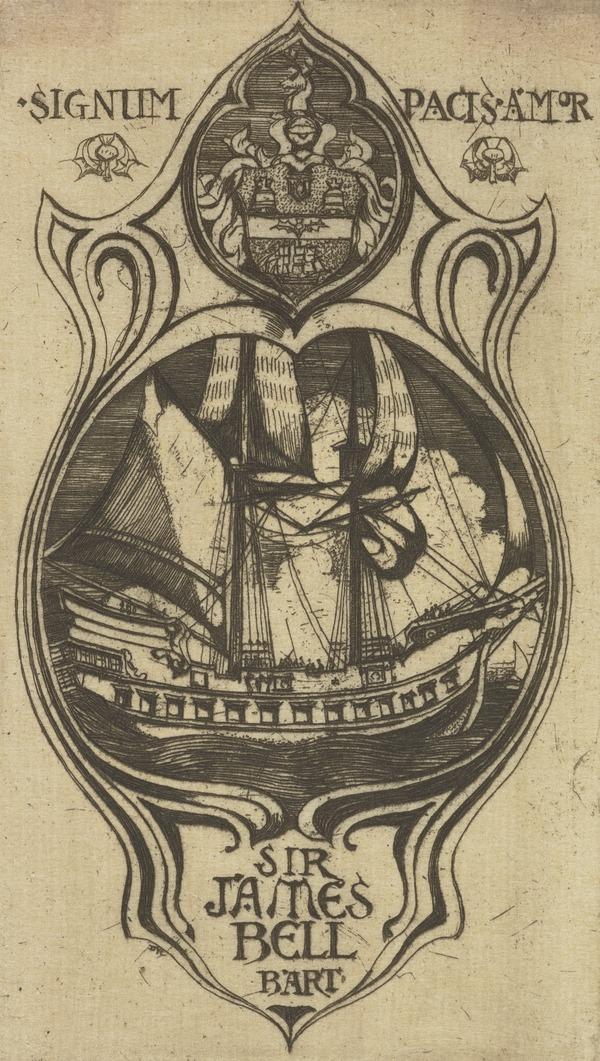 Sir James Bell, Bart. (Bookplate) (1902)