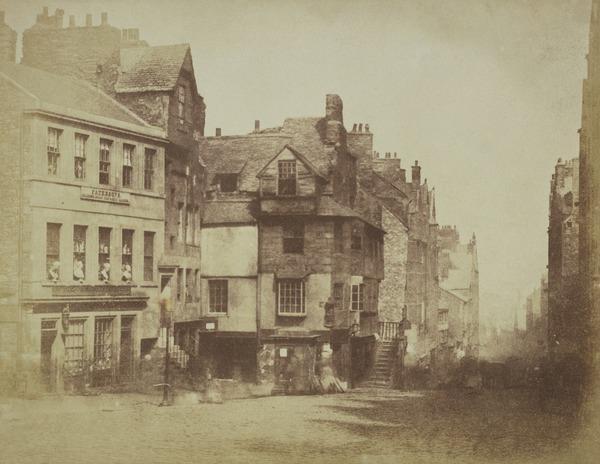 The High Street with John Knox's House, Edinburgh