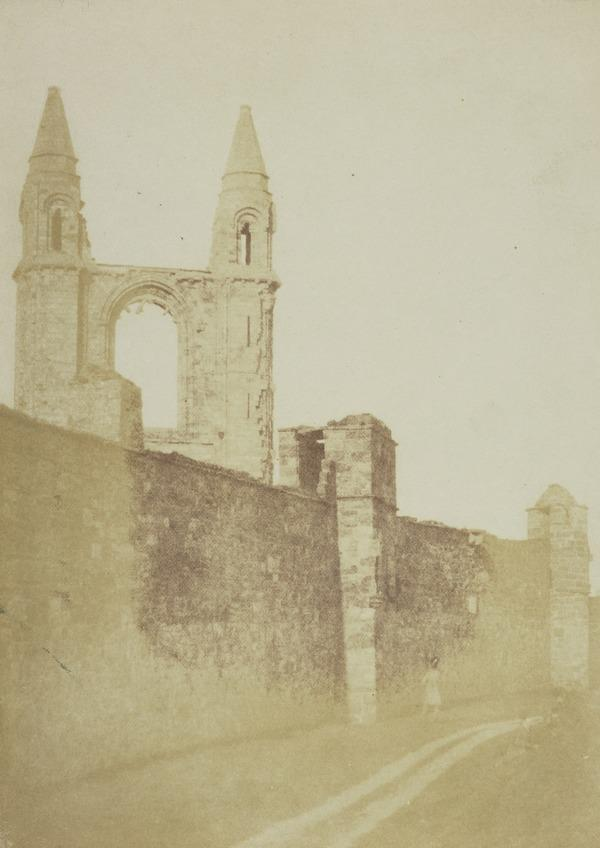 St Andrews Cathedral, the East Gable seen over the outer wall [St Andrews 25] (1842 or 1843)