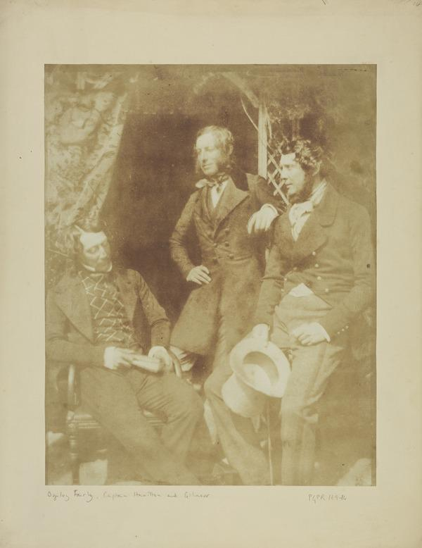 Group of Ogilvy Fairly, Captain Hamilton and Gilmour (13 June 1844 (dated from negative))