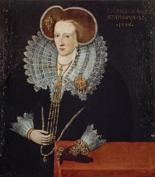 Lady Agnes Douglas, Countess of Argyll, about 1574 - 1607. Wife of the 7th Earl of Argyll (1599)